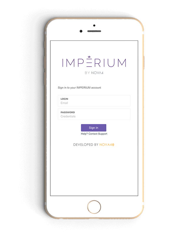 IMPERIUM CMS iPhone Sign In Preview